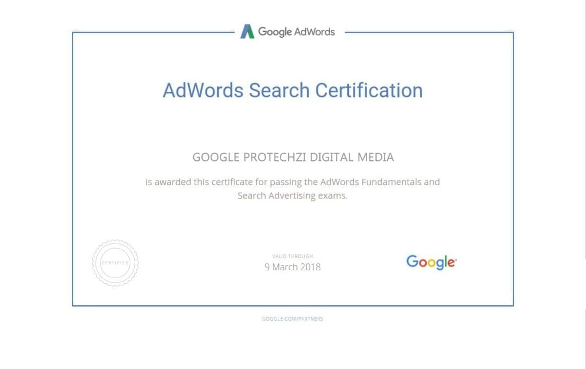 AdwordsSearchCertification-PROTECHZI