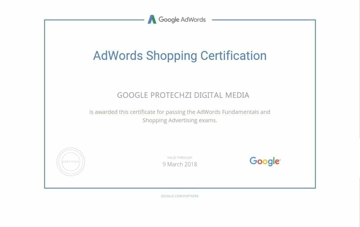 AdwordsShoppingCertification-PROTECHZI